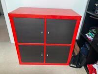 Red IKEA storage unit