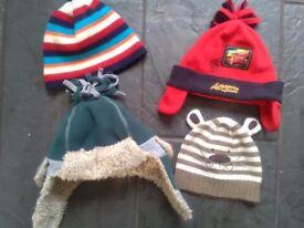 Winter toddler hats X 4