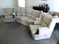 Three piece cottage suite, good condition suitable for older people as not to low