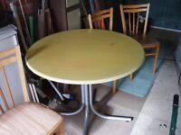 Free Round Dining Table and Chairs