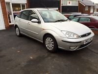 FORD FOCUS, 2002, Silver, 1.8tdci DIESEL, 136k Low Miles, SERVICE HISTORY, Mot JULY 2017, BARGAIN