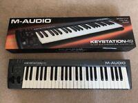 M Audio 49 key midi controller keyboard