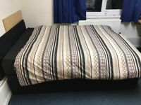 Double bed with memory foam mattress