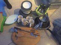 Job Lot camping crockery