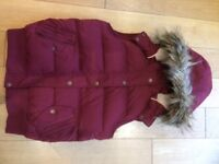 Gilet - Fatface Size 10 Maroon