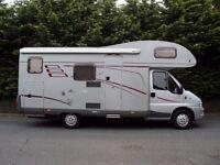 Fiat Hymer Classic Camper van Motor Home 2006 2.3L Diesel 6 BERTH LOW MILES Silver