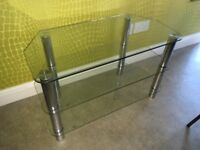 3 tiers Glass TV shelving unit / Table