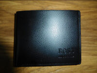 NEW leather HUGO BOSS black men's wallet