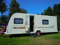 Touring Caravan BAILEY UNICORN VALENCIA 2011 4 bth ALKO MAMMUT mover ISABELLA MAGNUM porch awning