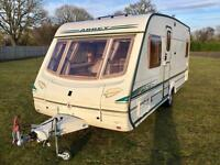 Abbey Vogue GTS 4 berth FIXED BED/ motor motor/ full Isabella awning/ EXCELLENT CONDITION!