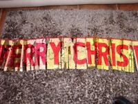 Merry Christmas Banner. Used once. £1. Torquay