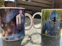 DR WHO 2 x ceramic mugs new