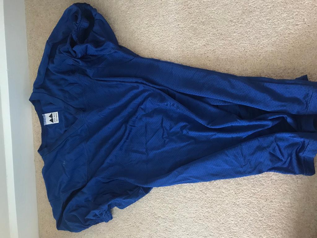 Blue American football Practice Jersey Medium