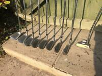 Full Set of Wilson Golf Clubs, Bag, Trolley and extras.