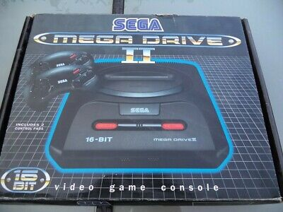 CONSOLE SEGA Mega Drive 2 En Boite - Carton +NOTICE MD II- Noire