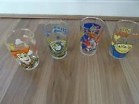 4 X CHILDRENS GLASSES: TOY STORY AND TOM AND JERRY