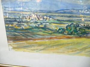 "Heinrich Waser "" Panoramic Landscape"" 1961 Original Watercolor Stratford Kitchener Area image 10"