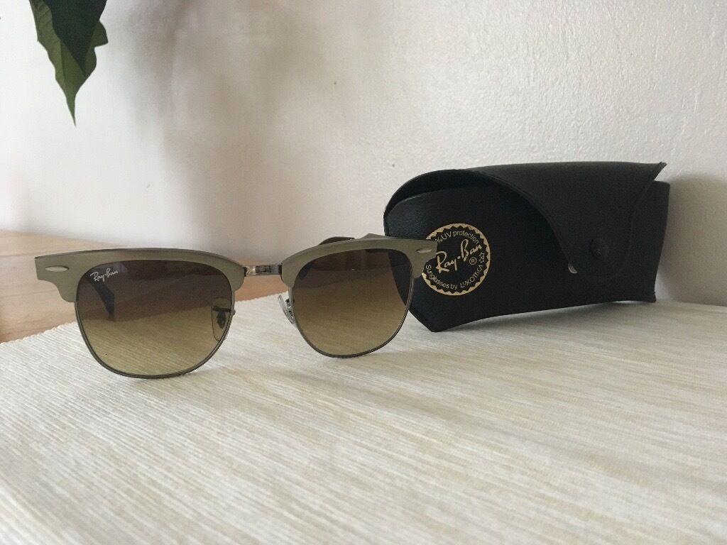4ffa64d4f ... amazon original ray ban rb 3507 139 85 51mm aluminum bronze brown  gradient clubmaster sunglasses 402a5