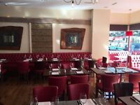 EXPERIENCED WAITER / WAITRESS REQUIRED FOR A STEAK RESTAURANT