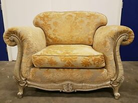 LUXURY GASCOIGNE DESIGNS VALENTINO ARMCHAIR CHAIR DESIGNER QUALITY LOVESEAT FABRIC CAN DELIVER