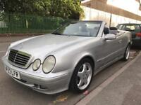 2003 MERCEDES CLK320 AVANTGARDE AUTOMATIC. AUTO. CABRIOLET CONVERTIBLE. LEATHERS. STAGGERED ALLOYS