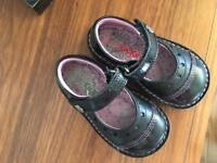 Girls shoes: Kickers infant size 5