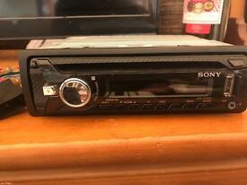 Sony car stereo with USB