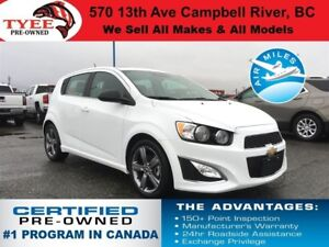 2016 Chevrolet Sonic RS Sunroof Leather Heated Seats