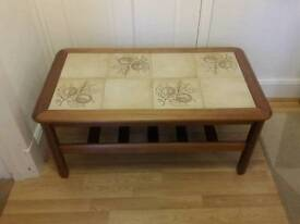 1970s vintage tile topped coffee table