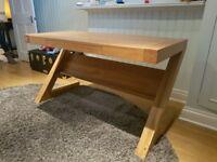 Solid Oak desk in excellent condition