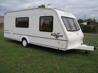 *BAILEY MOSELLE 4 BERTH CARAVAN,L-SHAPE SEATING & FULL AWNING, SUPERB CONDITION*