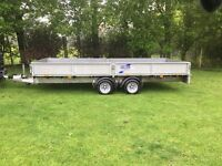 Ifor williams 16 trailer flatbed sides 2016 transporter ramp ivor bateson brian spare mini digger