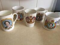 COLLECTION OF ROYAL FAMILY SOUVENIRS MUGS PLATES QUEEN CHARLES & DIANA