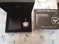 Armani wallet and watch set