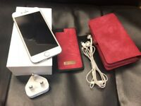Apple iPhone 6 64GB Unlocked with leather style cover and wallet, all accessories