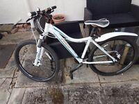 """White ladies trek bike 16"""" frame"""