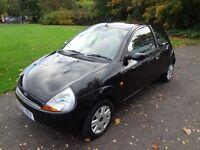 FORD KA 1.3 Style, 2007 / 57, 11 x MOT, Smart in Black!