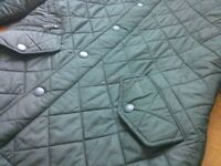 Small Mens Green Barbour Quilted Powell Jacket - like new