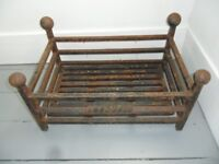 FIRE BASKET - with removable grate - HEAVY DUTY ITEM