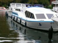 42ft Broads criuser boat plus 52ft mooring in St. Olaves, Norfolk £90,000 ono