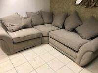 As new fabric Corner Sofa