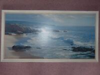 Sunny cove by Peter Ellenshaw - a framed 1960s print from Boots (£25 ONO)