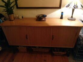 Bespoke Oak/wrought iron 3 door sideboard