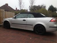 2004 Saab 93 convertible 1.8t met silver , alloys , tints , leathers , tidy car drives perfect mot