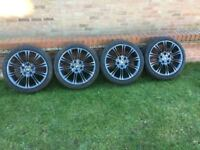 BMW aftermarket alloy wheels x 4