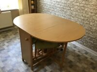 Butterfly dining table & 4 chairs