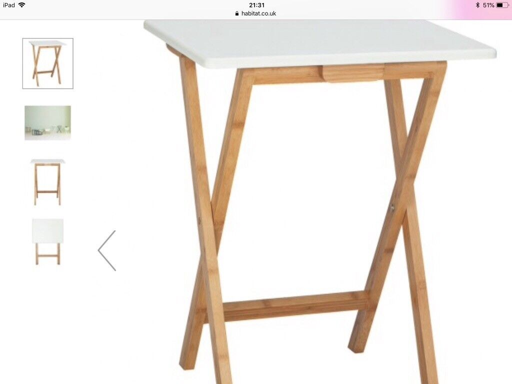 Small Foldable Wooden Table