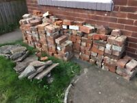 Free Old bricks some full some halfs