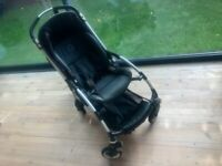Bugaboo Bee with limited edition denim canopy and rain cover