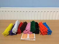 BIG JOBLOT OF CHENILLE CRAFT STEAMS PIPE CLEANERS 10 ASSORTED COLOURS 15CM